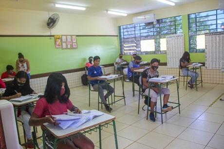 Sala climatizada na comunidade ava guarani Añetete. Fotos: Lígia Leite Soares/Itaipu Binacional